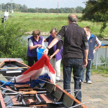 Doop aangepaste roeiboot: de Dorus Rijkers