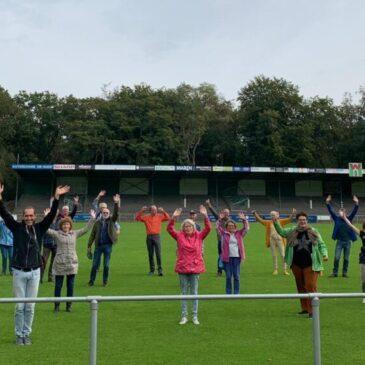 Vrijwilligersmiddag in stadion van FC Wageningen